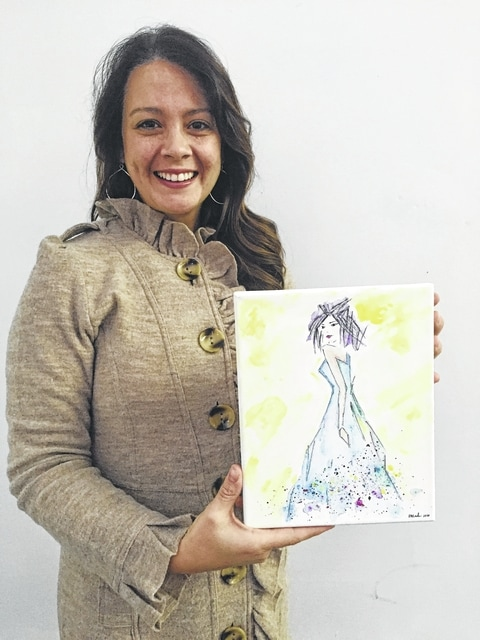 Emily MacKendrick owns One Eleven - A Fashion Boutique, located in downtown Urbana, and is a Realtor with Eva Carey Realty. Her art is a fashion pen sketch, finished in watercolor.