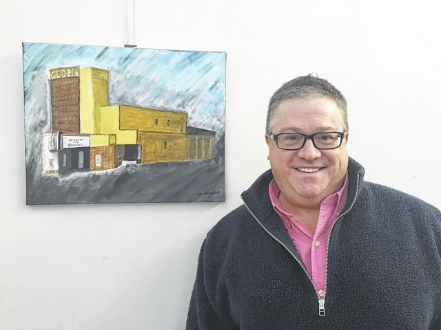 Jon Umstead is a self-employed business consultant. He is a published author who enjoys the performing arts and music composition. He is a member of the GrandWorks Foundation board, and his artwork features The Gloria Theatre, circa 1941.