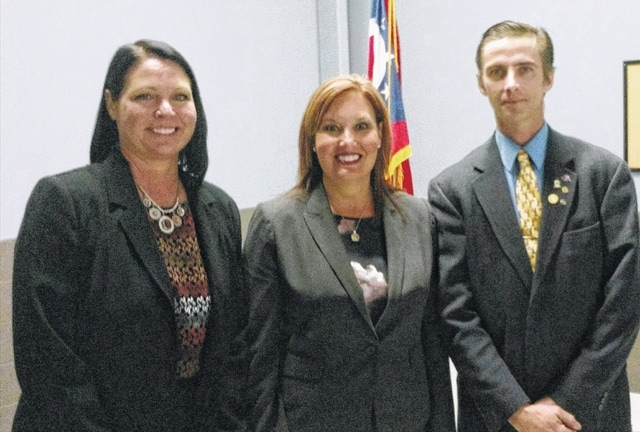 "Lt. Gov. Mary Taylor was the guest speaker at the annual Champaign County Republican Lincoln Day Dinner on March 2. She spoke about leadership and how her father's expectation of ""Do the Right Thing All the Time"" made her the person she is today. From left are Audra Bean, Champaign County Republican Chair; Taylor; and Mike Terry, Champaign County Republican Central Chair."
