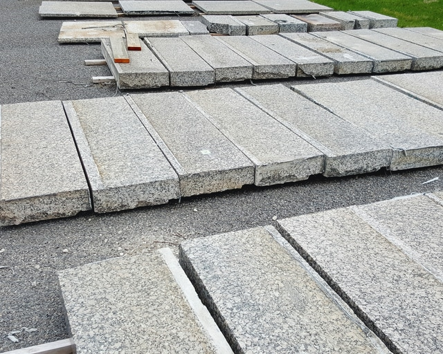 Sealed bids will be taken for granite slabs removed from the Champaign County Courthouse steps until April 7. The granite may be inspected near the Champaign County Recycling Center, 2380 S. U.S. Highway 68, behind Vancrest of Urbana.