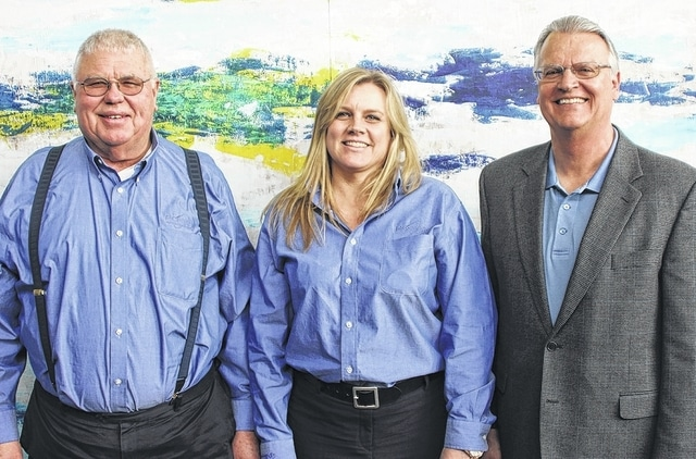 Trustees elected to the board are, from left, Orville Bensman, Colleen Eidemiller and Mark Bailey.