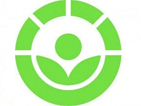The international Radura symbol for irradiated foods.