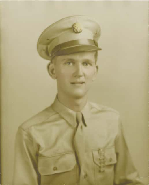 This photograph of Urbana native John H. Spriggs, taken before he was deployed to Europe during WWII, was on display at Jenny Cline's home in Urbana until she learned a Dutch nonprofit was searching for a photograph of Spriggs, who died in a German prisoner-of-war camp.