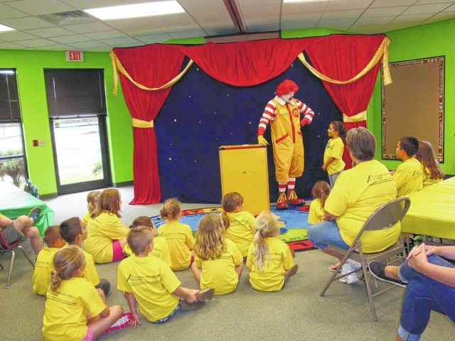 Ronald McDonald was one of several guests to take part in Camp Phoenix last year. Pictured is Ronald McDonald peforming his Red Shoe Review.