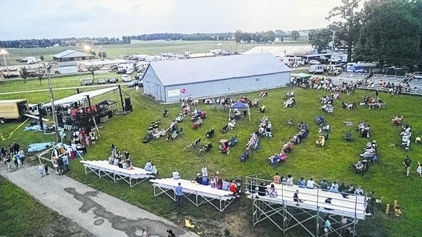 Pictured are some of the approximately 4,000 people who attended the inaugural Rhythm & Foods Festival held last year at the Champaign County Fairgrounds in Urbana.