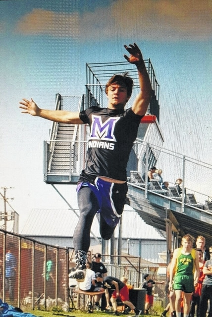 Mechanicsburg's Bryce Waring (pictured) won the long jump at the Northeastern Invitational.