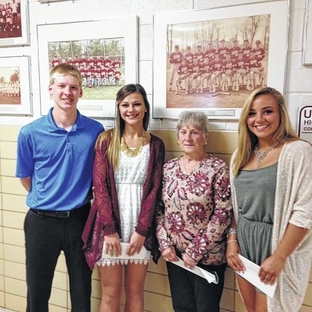 2016 winners of the Todd Foster Memorial Scholarship are Trenton Dunham, Kaelyn Bertsch, and Kathryn Curnutte pictured above with Shirley Foster. The Todd Foster Memorial Scholarship is given annually in honor of Todd, a former Urbana High student who was a vital contributor to the 1982 State Championship Baseball Team. ORBIS is an important contributor to this scholarship.