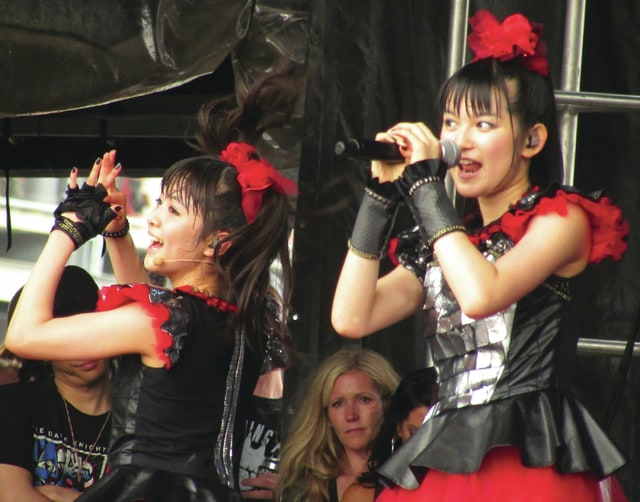 Gary Brock photo Babymetal lead singer Suzuko Nakamoto and backup singer Moa Kikuchi perform at the 2015 Rock on the Range in Columbus. The Japanese heavy metal j-Pop fusion band returns to Columbus next month as one of the hottest acts in rock for the Alternative Press Music Awards show.