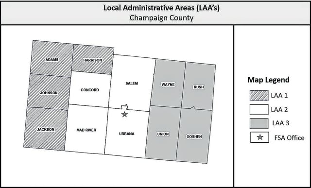 Local Administrative Area (LAA) 2, including Concord, Mad River, Salem and Urbana townships, will hold an election.