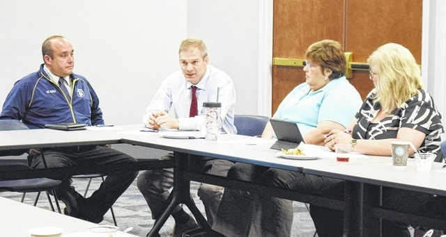 U.S. Rep. Jim Jordan (R-Urbana) answered questions at the Champaign County Farm Bureau's regional policy development meeting Thursday.