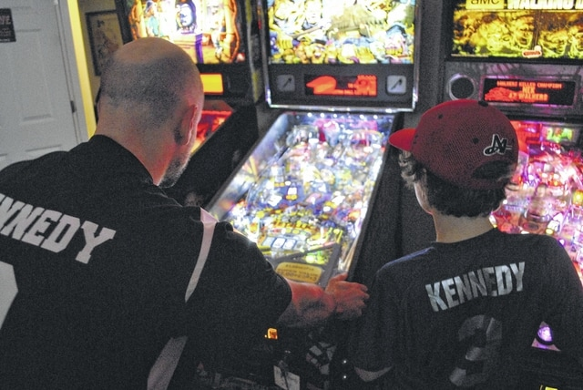 Nick and his son, Gregory, share a love of all things pinball.
