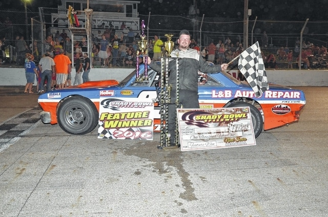 Buck Purtee (pictured) won the Sceva Memorial at Shady Bowl Speedway on Saturday.