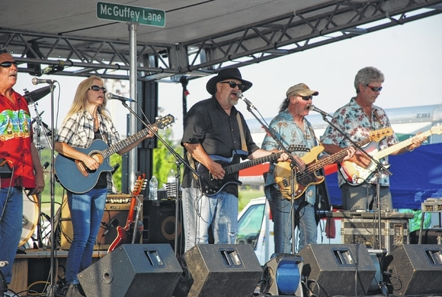McGuffey Lane was one of many live bands that performed over the weekend at the Rhythm and Foods Festival.