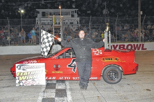 Terry Eaton, Jr. (pictured) won the Vores Compact Touring Series feature at Shady Bowl on Saturday.