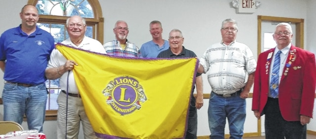 The St. Paris Lions Club recently installed the following officers for the 2016-2017 year: from left, Chad Miller (President), George Goodwin (Past-President), Jim Anderson (Secretary), Jason Hoelscher (Vice President), Richard Campbell (Trustee), Joe Sampson (Treasurer) and Carl Cox (Installing Officer).