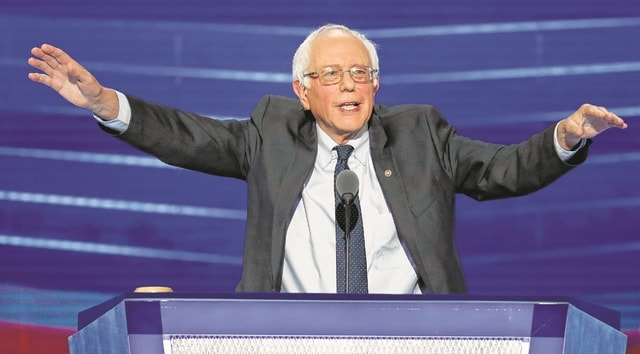 Former Democratic presidential candidate Sen. Bernie Sanders speaks during the first day of the Democratic National Convention in Philadelphia , Monday, July 25, 2016. (AP Photo/J. Scott Applewhite)