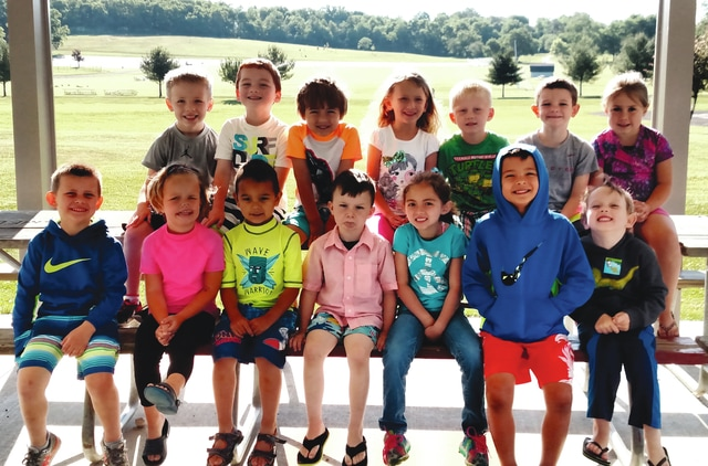 Pictured are children who participated in the first class of the Urbana Police Division's Safety Town this year. The annual program is held in Melvin Miller Park and teaches children safety topics.