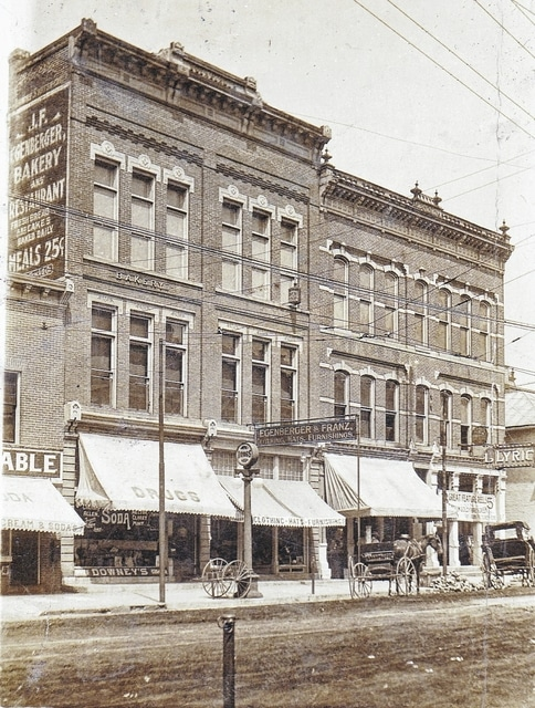 Downtown patrons once could purchase ice cream, fresh bread and a 25 cent meal inside these buildings.