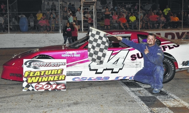 """Quincy's Josh Smith (pictured) won the """"Racing for Rick"""" feature at Shady Bowl on Saturday."""