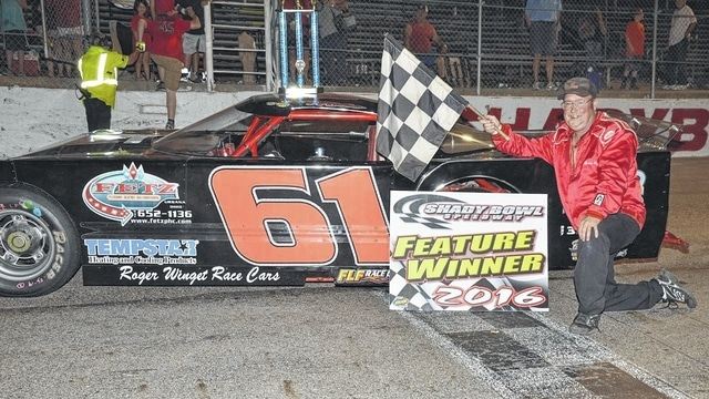 Veteran driver Mike Ward, of Urbana, won his 50th career race at Shady Bowl Speedway on Saturday during the venue's military appreciation events.