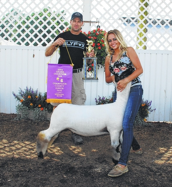 Delila Meyers won Grand Champion Ewe.