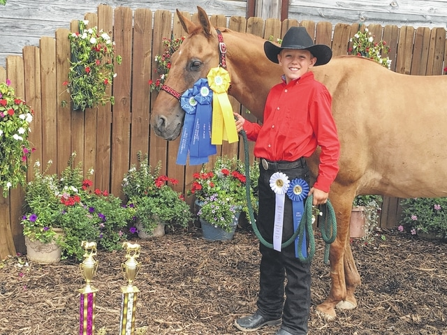 Owen Harrison, 4h classes-1st place pony showmanship 8-10, 1st place walk/trot trail, 3rd place walk/trot horsemanship; Open classes-1st place open pony pleasure, 4th place western horsemanship