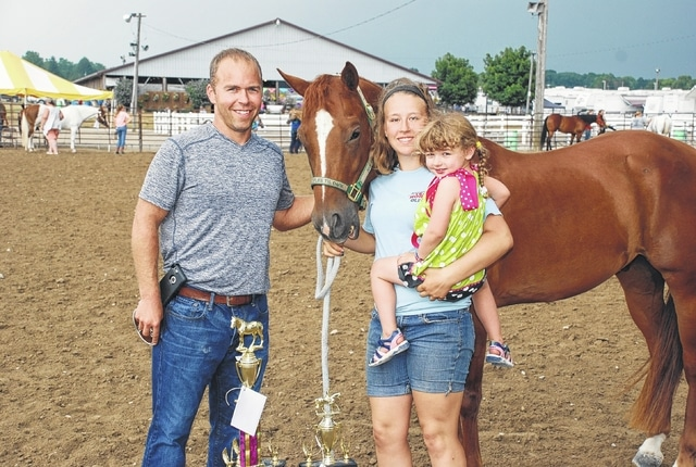 Olivia Bender won Reserve Champion Showmanship. Her horse brought $150 in sponsorship from Andy and Mandy Heath.