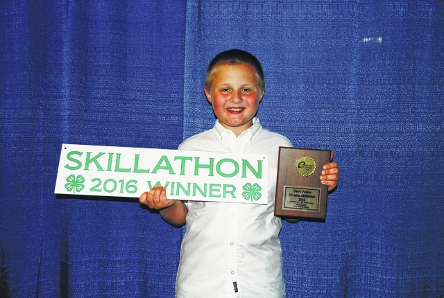 Silas King won Dairy Junior Division Skillathon.
