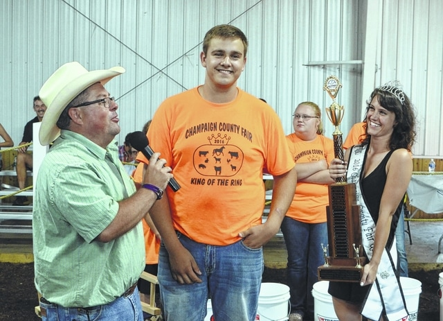 Matthew Wallen won the 2016 King of the Ring showmanship competition on Thursday.