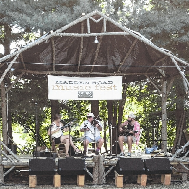 The Madden Road Music Fest will be held on Saturday, Aug. 13 from 2-10 p.m. north of Mutual. Pictured is Bob Lucas and the Hedgehog String Band during a previous performance.