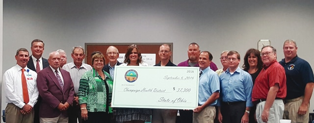 Multiple local government officials were present for the presentation of a mosquito control grant Tuesday. The grant was awarded to Champaign County as the Ohio EPA announced the second round of grant recipients.