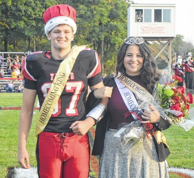 Triad High School crowned Colby McConnell and Jennifer Sizemore as its homecoming royalty on Friday night.