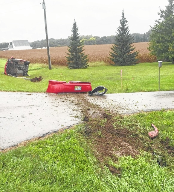 A Mechanicsburg man was injured Friday morning in a single vehicle crash in the 3000 block of East state Route 29. According to the Champaign County Sheriff's Office, a 2004 Toyota driven by 35-year-old Joseph Dixon of Mechanicsburg lost control west bound on Route 29 exited the north side of roadway striking a culvert causing the vehicle to come to rest on the passenger's side. Dixon was transported to the Mercy Memorial Hospital emergency room by Urbana EMS with non life-threatening injuries.