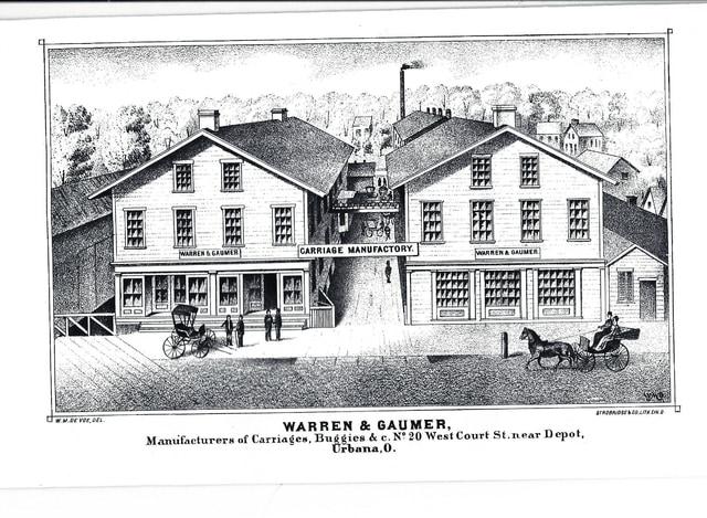 The Warren and Gaumer Manufacturing Complex constructed carriages at what was then 20 W. Court St., Urbana, in the 1800s.