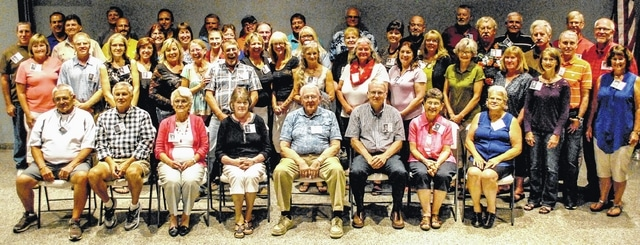 The West Liberty-Salem Class of 1976 gathered Sept. 3 at the VFW Hall in Urbana for its 40-year high school reunion. Forty-three classmates and eight former educators plus spouses and guests attended.