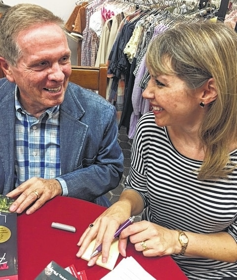 "Rick and Sheree Niece met friends and family last week at the Peach Tree Boutique, Bellefontaine, for a book signing for the third book in Rick's series about life in DeGraff. The DeGraff native's book is ""Perfect in Memory, A Son's Tribute to His Mother."""