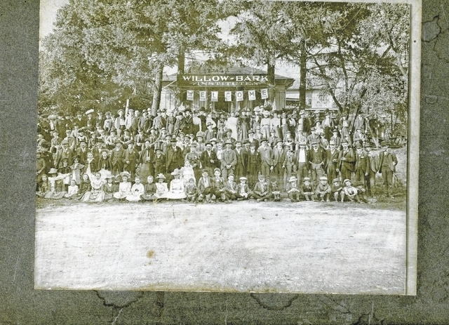 This Sept. 20, 1901, photo shows the first reunion of graduates of The Willow Bark Institute, 246 W. Elm St., St. Paris.