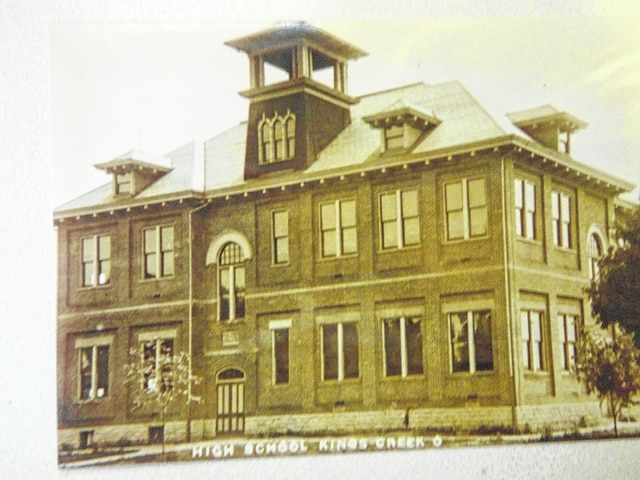 This 1908 photo shows the remodeled Salem Township High School in Kings Creek.