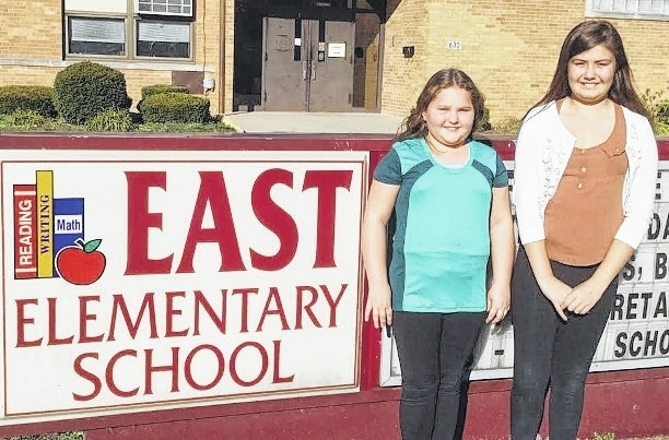 The Urbana East Elementary Students of the Month are, from left, Lauren Hughes and Nevaeh Haston.