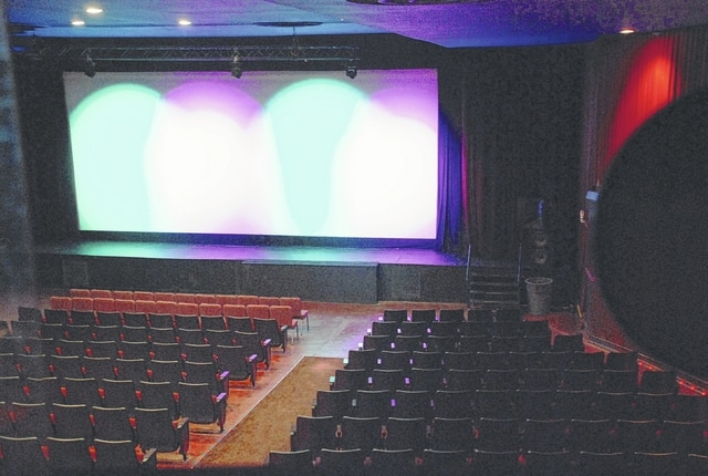 """The popular movie """"A Christmas Story"""" will be shown this weekend on the 38-by-16-foot screen at the Gloria Theatre. The new screen is about two and a half times larger than the theater's previous screen. The movie will be the first to be shown with the theater's newly installed state-of-the-art 4K digital projection system with upgraded 7.1 surround sound."""