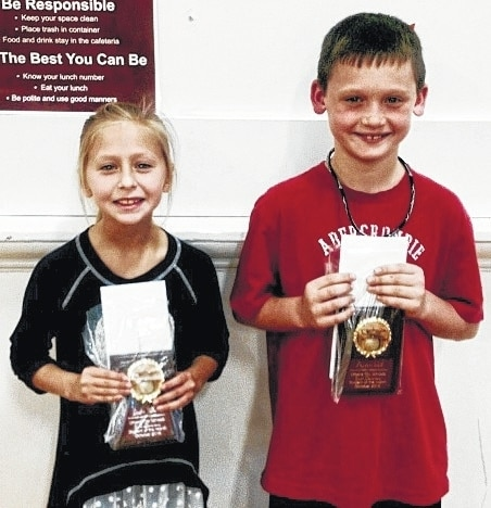 The Urbana South Elementary Students of the Month are third graders Layla West and Austin Hill.
