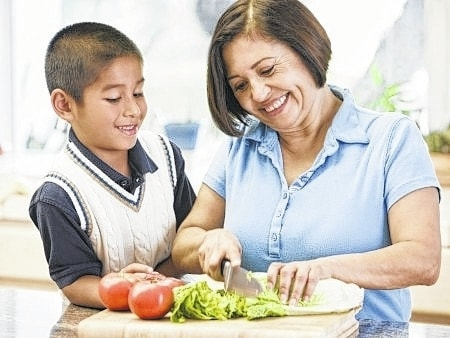 """Steer young visitors — and older ones, too — to healthier eating habits such as making water the drink of choice, eating veggies as snacks and saying """"no"""" to fried food."""