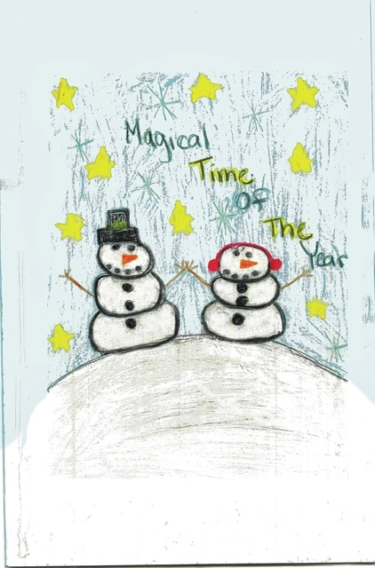 This design by Mburg fifth grader Emily Conley was the winner of Memorial Health's Holiday Card contest.