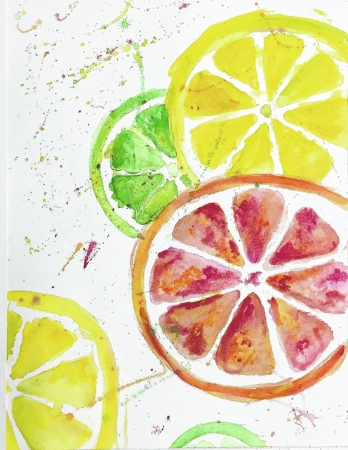 "Today's art/music show/sale includes ""Fruit"" by Cassie James."