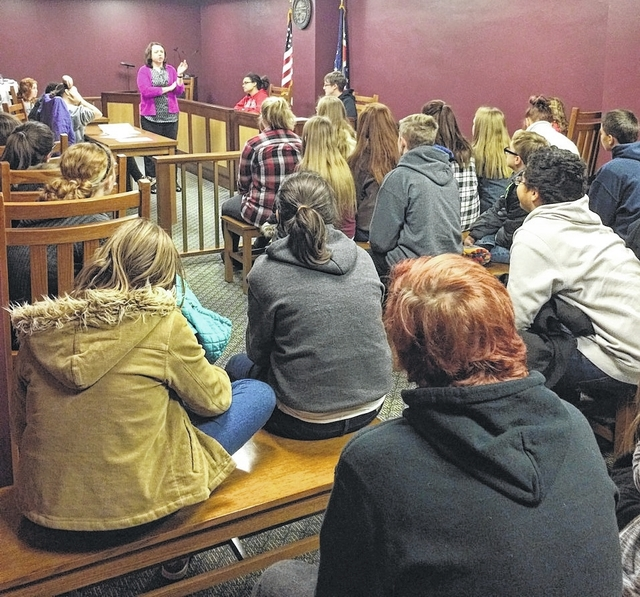 During the week of Dec. 11, 8th graders from Urbana Junior High took a field trip to the Ohio Supreme Court. The trip was financed through a transportation grant sponsored by the Ohio Judicial Center Foundation. While there, the students toured the Supreme Court building, learned about the various roles and duties of the judicial system, and took part in a reenactment of an actual Ohio Supreme Court case.