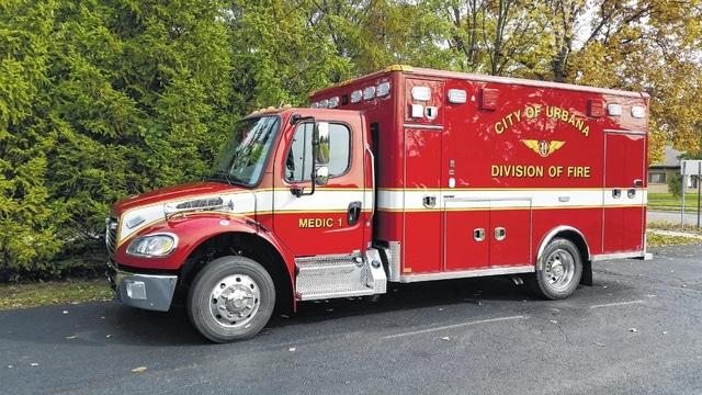 The Urbana Fire Division's newest emergency vehicle is a Horton custom-built ambulance on a 2017 Freightliner chassis.