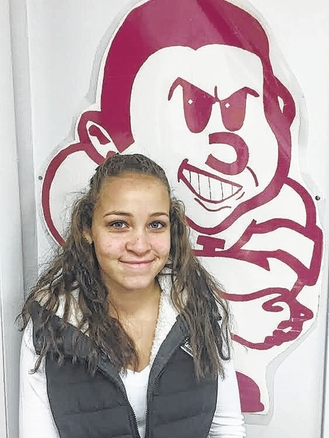 Sophomore Mya Canaday, Urbana High's Student of the Month