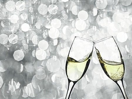 Sparkling water, ice tea and other nonalcoholic and noncaloric drinks also can fill glasses on festive occasions.