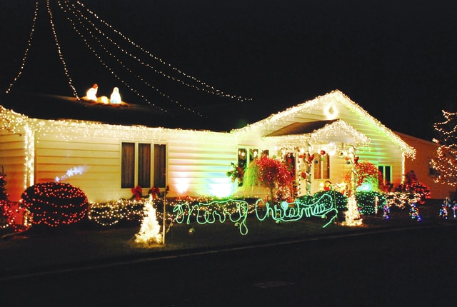 This house located at 120 Union St. in Urbana is all decked out for Christmas with lights, inflatables and projection images. The bright display points toward a star in the sky suspended above the house. Union St. is located north of Gwynne St. According to the Champaign County Auditor's website, the home is owned by David and Lonnee Jensen. <em>Have a house in your neighborhood that's brightly decorated? Email us the address at UDCeditor@civitasmedia.com.</em>