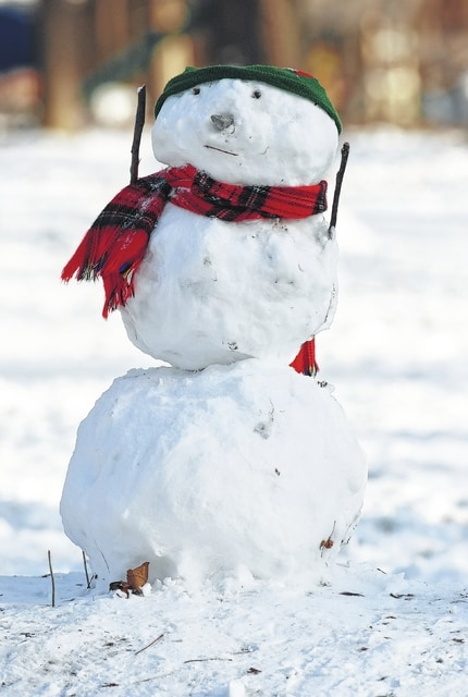 This country-style snowman greets visitors to the Uhl family house in Mad River Township. Temperatures near zero are helping preserve the winter creation, but he might be at risk for melting on Saturday as a brief warm spell is predicted to arrive this weekend. <em>Have snow creations and winter scenes to share with our readers? Email them to UDCeditor@civitasmedia.com all winter long.</em>
